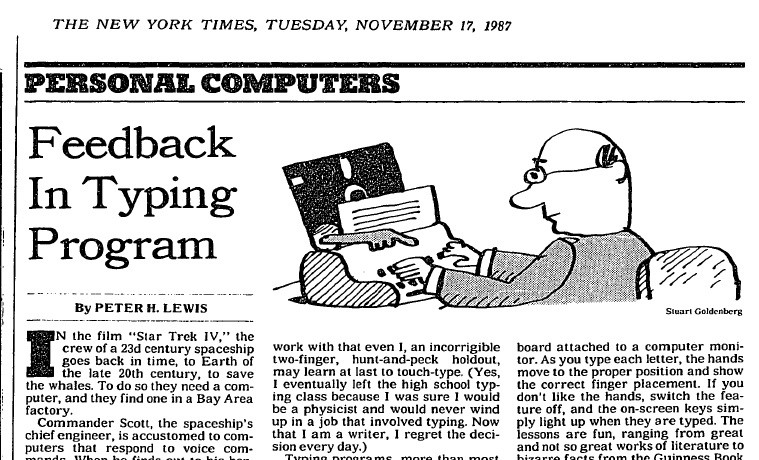 Clipping of a New York Times article titled